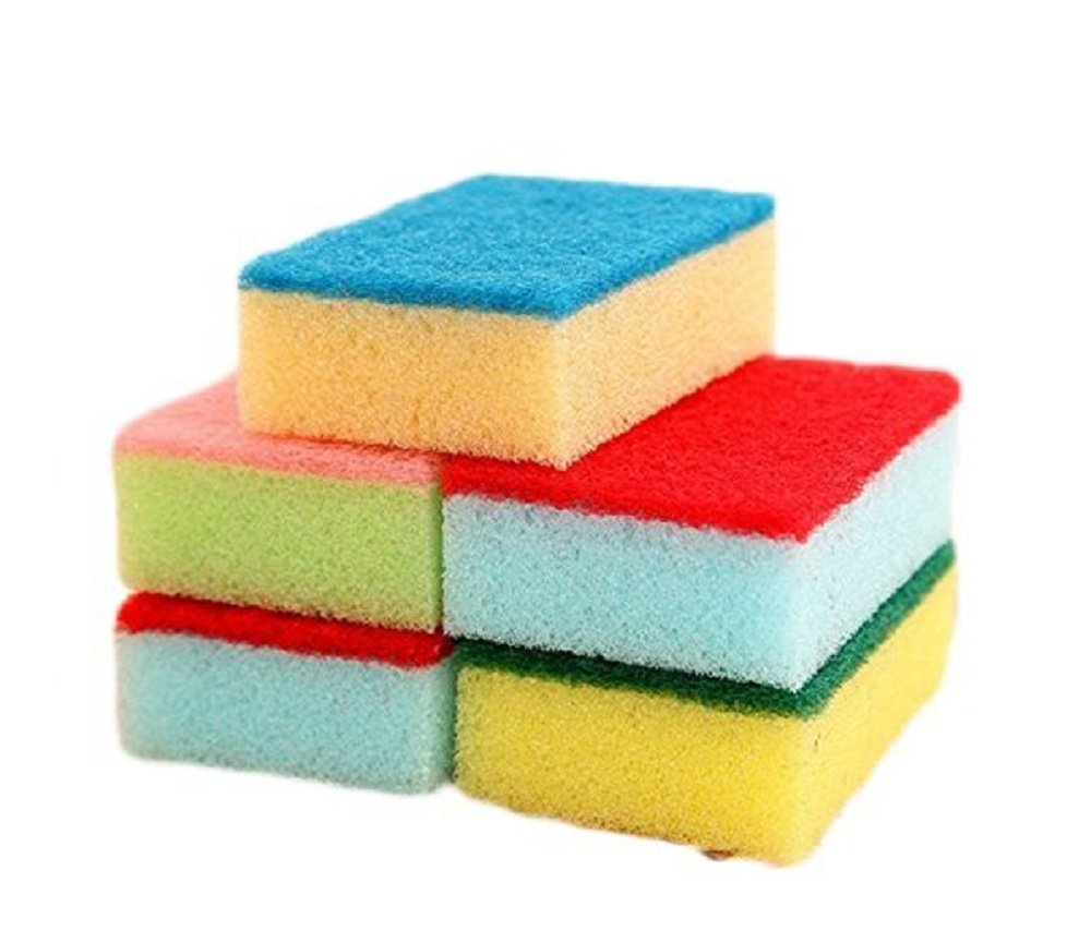 Hosaire 10 Pcs Scrub Sponge Clean Magic Eraser -Kitchen-Bathroom-Car-Individually Wrapped