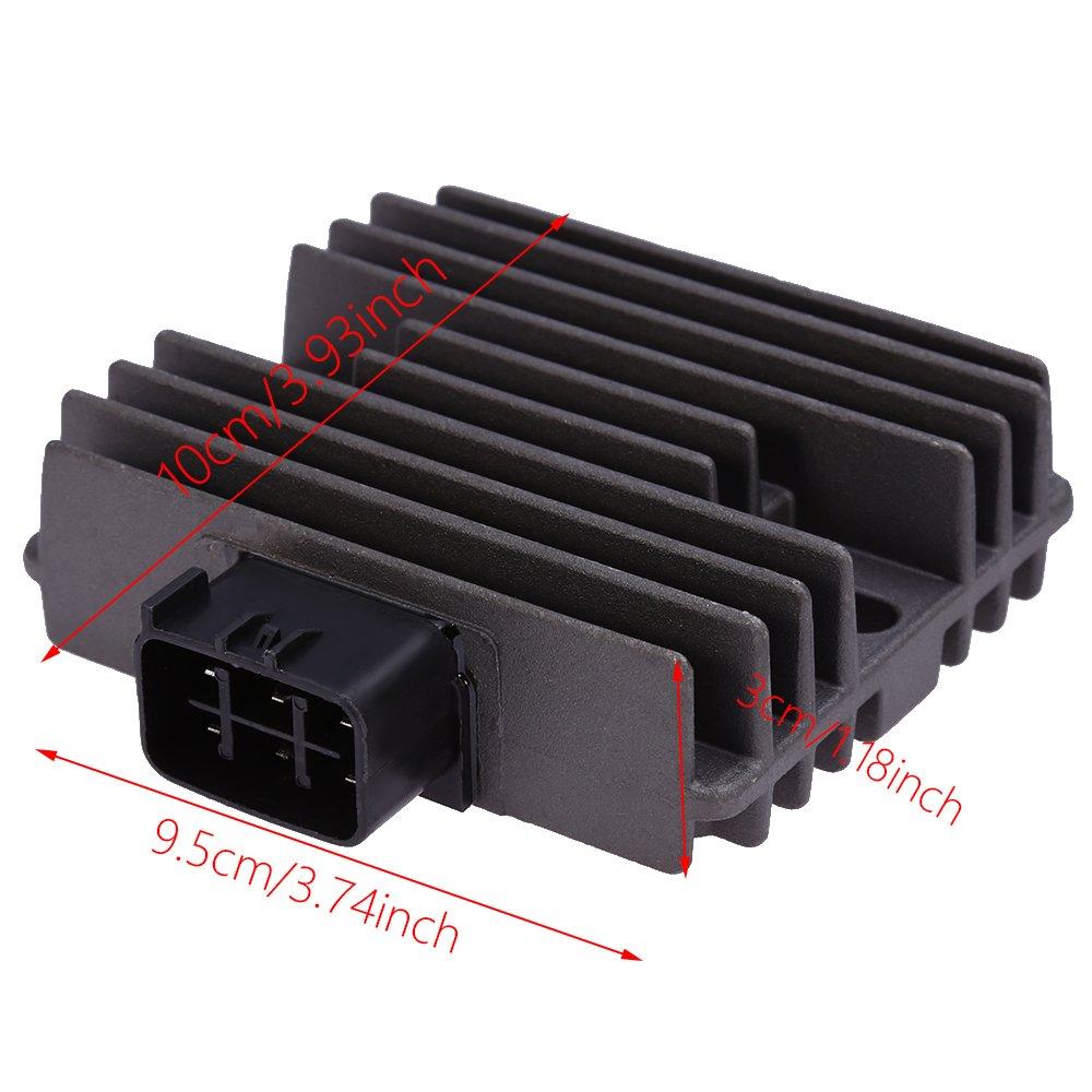 Voltage Regulator Rectifier for Suzuki 450 500 700 750 KingQuad Kawasaki Brute Force 650 Mule 3000 3010 Teryx 750 Vinson 500 Replace# 21066-0705 21066-1127 32800-42F00