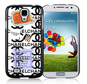 Chanel DIY Design Beautiful Fashion Hard Shell Samsung S4 I9500 Cover Case 30 Black
