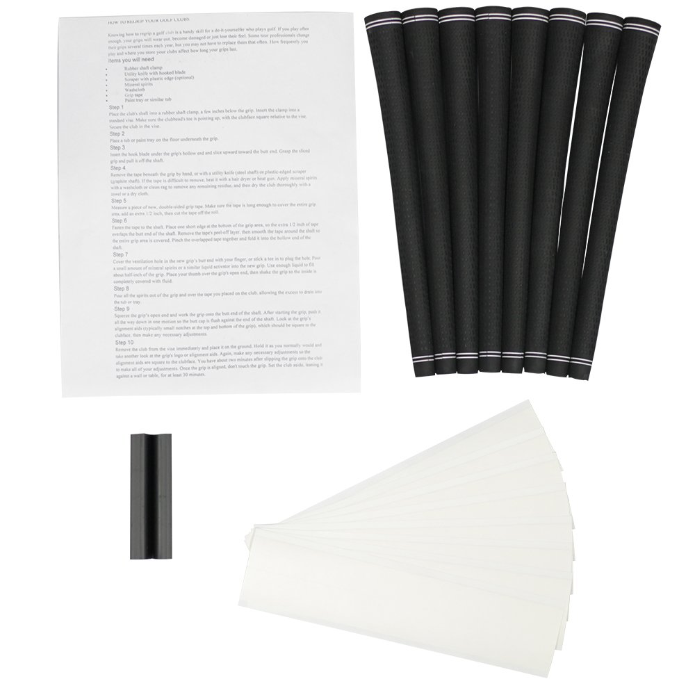 Revolution Black 360 Degrees Standard Size Grips and Grip Kit (8 grips, grip tape, clamp, instructions)