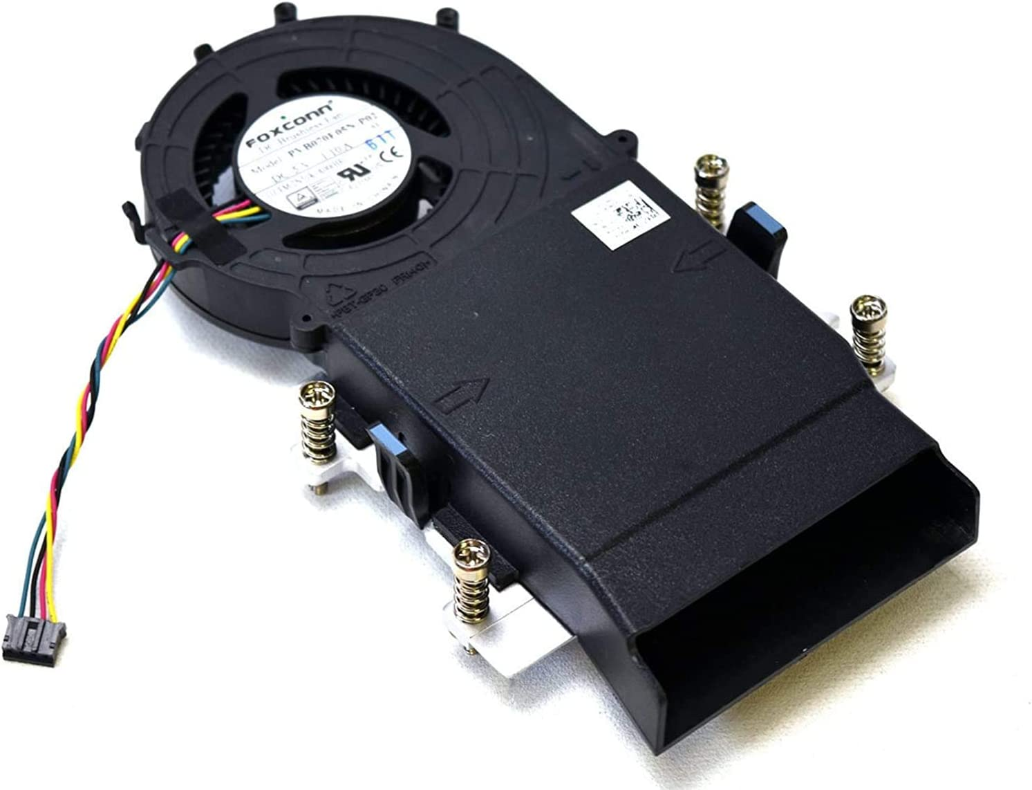 5JV3N Genuine OEM Dell Optiplex 3020M 9020M 7020M 7040M 7050M Desktop Fan Assembly with 2N51K Cooling Blower Fan CPU Shrouded Heatsink Captive Thumbscrews Base Plate 19P4P
