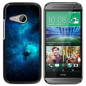 Caucho caso de Shell duro de la cubierta de accesorios de protección BY RAYDREAMMM - HTC ONE MINI 2 / M8 MINI - Azul Galaxy