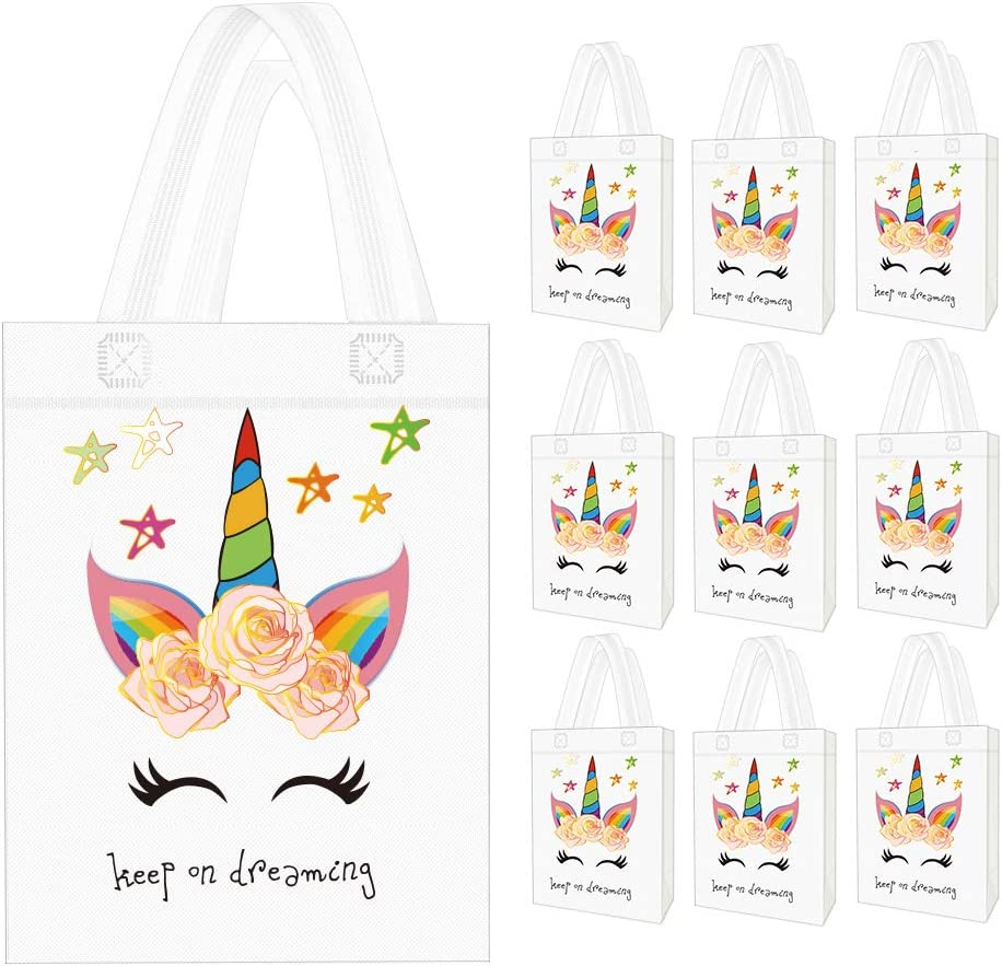 Unicorn Party Favor Bags for 10 Guests