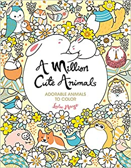A Million Cute Animals: Adorable Animals to Color (A Million Creatures to Color) (Volume 9)