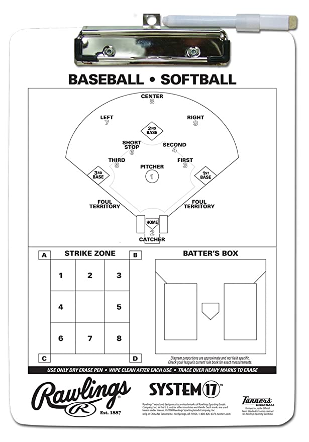 Amazon.com: Rawlings system-17 Coach Portapapeles: Sports ...