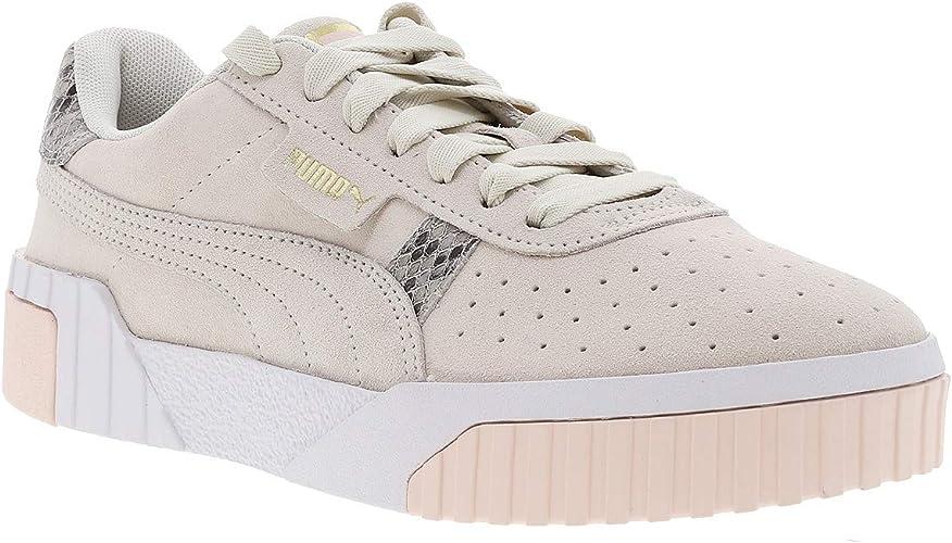 Puma Cali Iridescent Snake Shoes, White