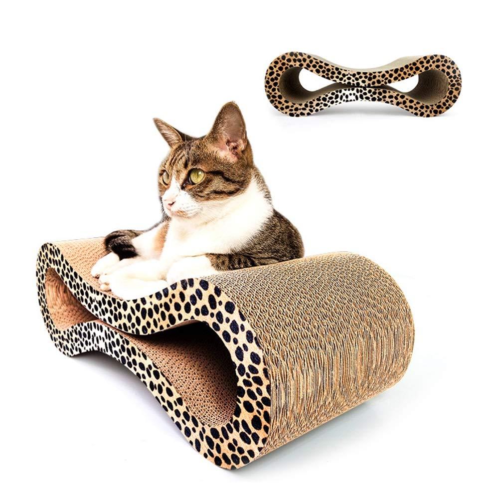 LSS Cat Scratcher Lounge, Cat Scratch Board, Curved Radiant Shape Corrugated Paper Cat Claw Cat Toy Large Size