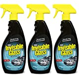 Invisible Glass 92164-3PK Premium Glass Cleaner 22-Ounce Bottle - Case of 3, 66. Fluid Pack
