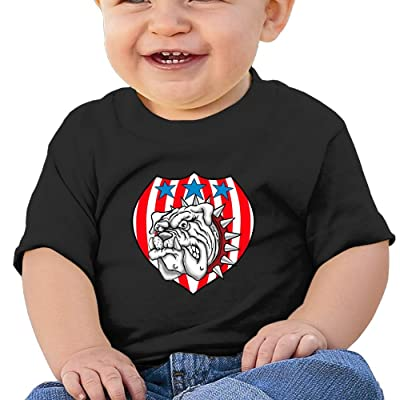 Bulldog With Shield Funny Cotton Soft O-neck Short Sleeves T-Shirt For 6-24 Months Baby Shirt