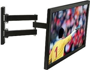 Mount-It! MI-2041L Black Single Arm Full Motion Articulating Tilting TV Wall Mount Bracket | Computer Monitor Mount for 23-42 inch LED/LCD/4K Screens Vesa Max 200x200mm, 66lbs Capacity