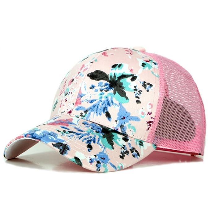 JUNGEN Gorra de béisbol de Patrón de flores Sombrero de Sol al Aire Libre Casual sombrero