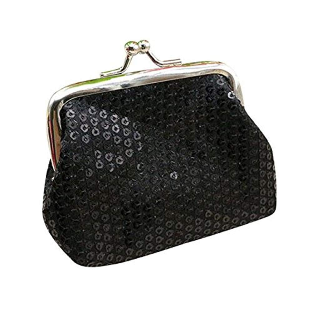 aadf577e79e7 Clearance! Wobuoke Womens Small Sequin Wallet Card Holder Coin Purse ...