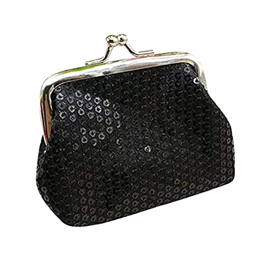 Image Unavailable. Image not available for. Color  Clearance! Wobuoke  Womens Small Sequin Wallet Card Holder Coin Purse ... 5137b549874b6
