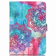 Jenny Shop Universal 7 Inch Blue Pink Flower Pu Leather Case For RCA 7 Inch Tablet,ProntoTec 7 Inch ,Google Nexus 7,NeuTab I7/ X7 7,LG G Pad 7.0 case,blackberry playbook 7-inch tablet (Lace)