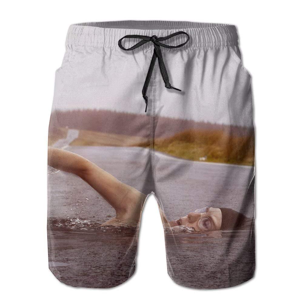 Swimming Creative Illustration Casual Mens Shorts Beach Swim Trunk Summer