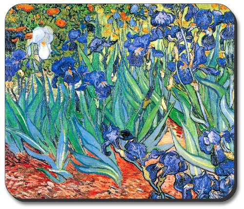 (Van Gogh Irises Mouse Pad - By Art Plates )