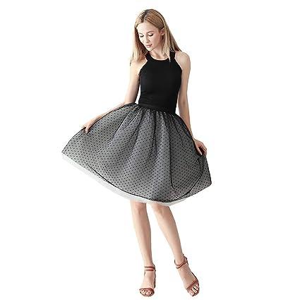 USIPuretal Tutu Falda de tutú para Mujer, tutú Vintage, tutú para ...