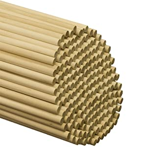 Perfect Stix - WED120-50 Wooden Lollipops and Cake Dowel Rod, 1/4