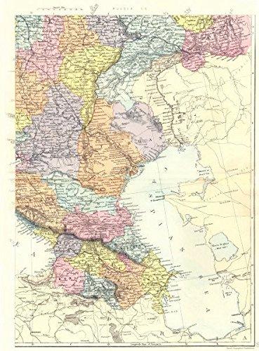 Map Of Russia And Georgia.Russia Georgia Azerbaijan Russia S E Caucasus Bacon 1895 Old