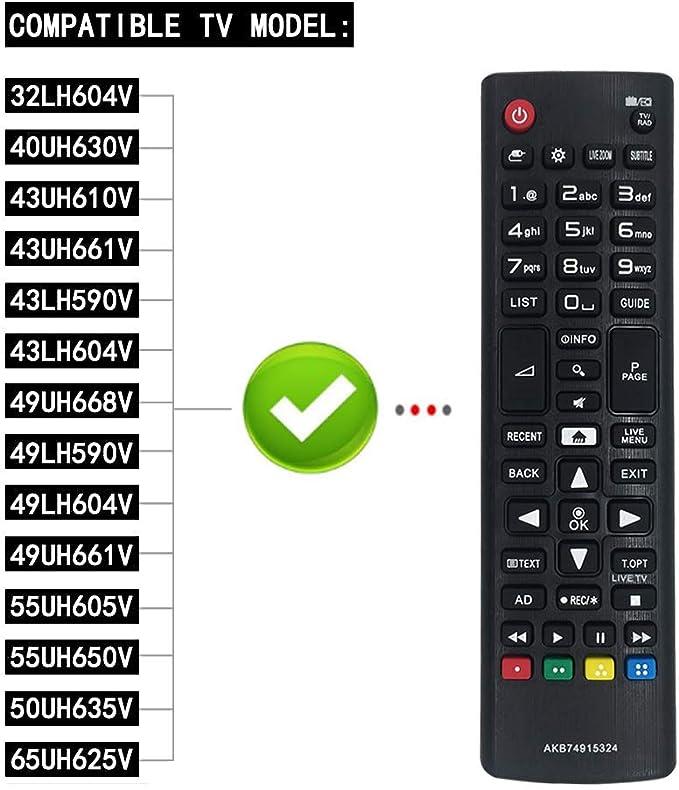 MOONN Nuevo Reemplazo LG Control Remoto para TV, LG TV Remote ...
