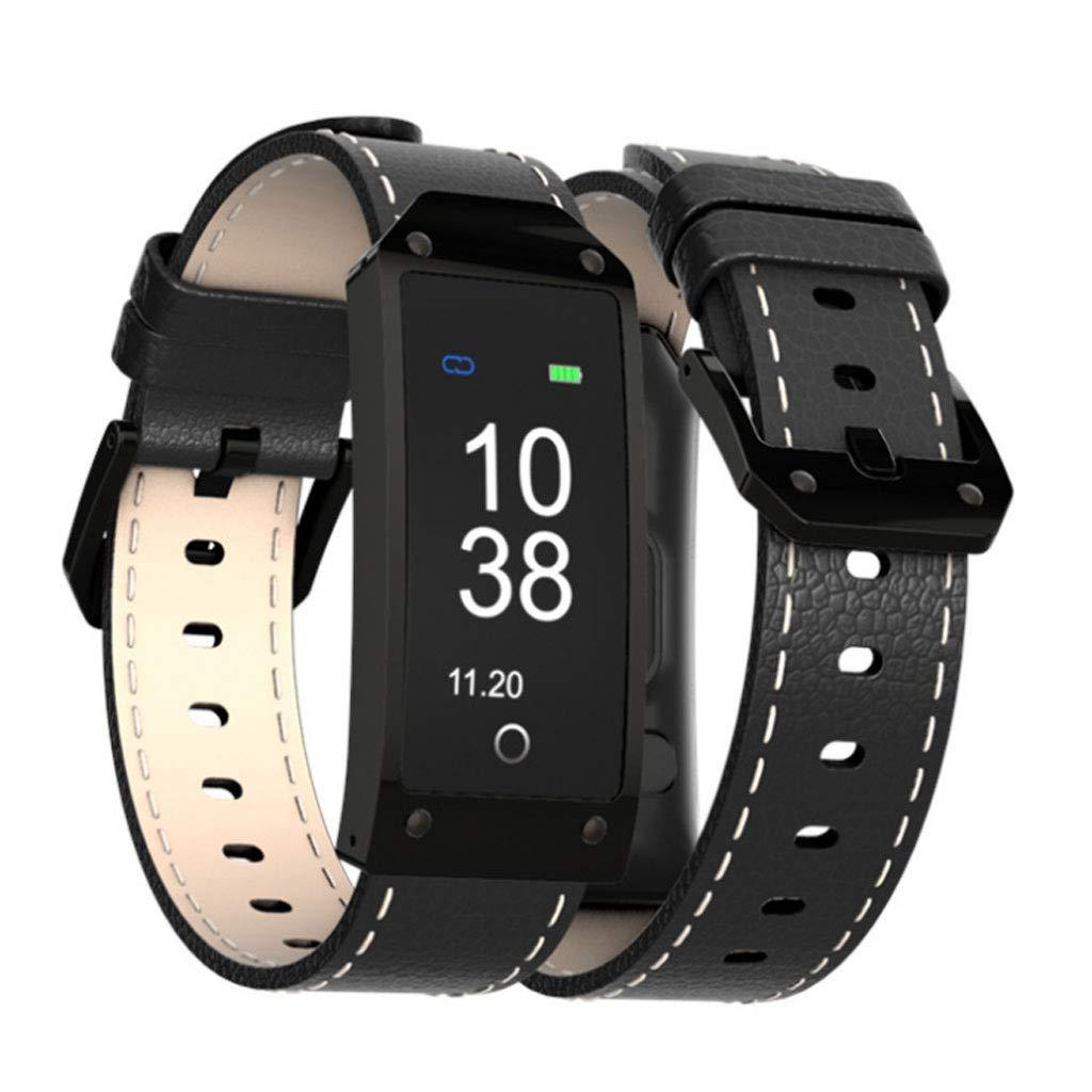 Noir DWY Trackers d'activité Bracelet à Puce Bracelet de Sport à Pression artérielle (Couleur   Orange)