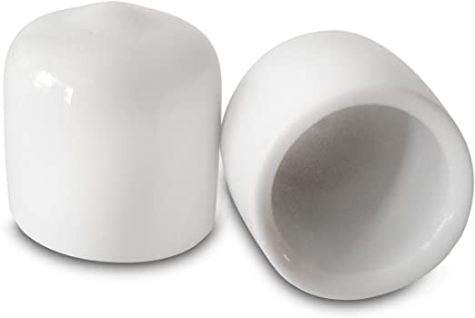 "10-1//2/"" White Vinyl Round End Caps Cover .5/""  Plastic Rubber Pipe Tube Rod Bar"