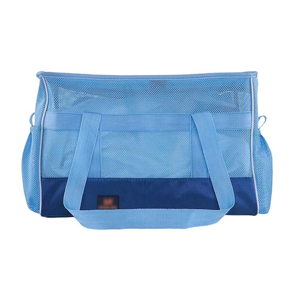 502233CM Pet Travel Bag Pet Handbag bluee 1680D Nylon Breathable Mesh Portable Folding Dual-use Dog Cat Outdoor Shoulder Bag Travel Carrier (Size   50  22  33CM)