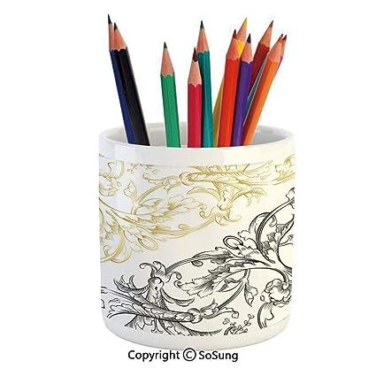 Estuche de cerámica para lápices con diseño de olas del ...