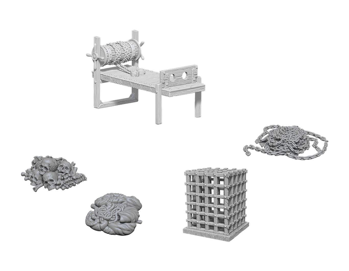 WizKids Deep Cuts Unpainted Miniatures Bundle: Tortura Rack W6 + ...