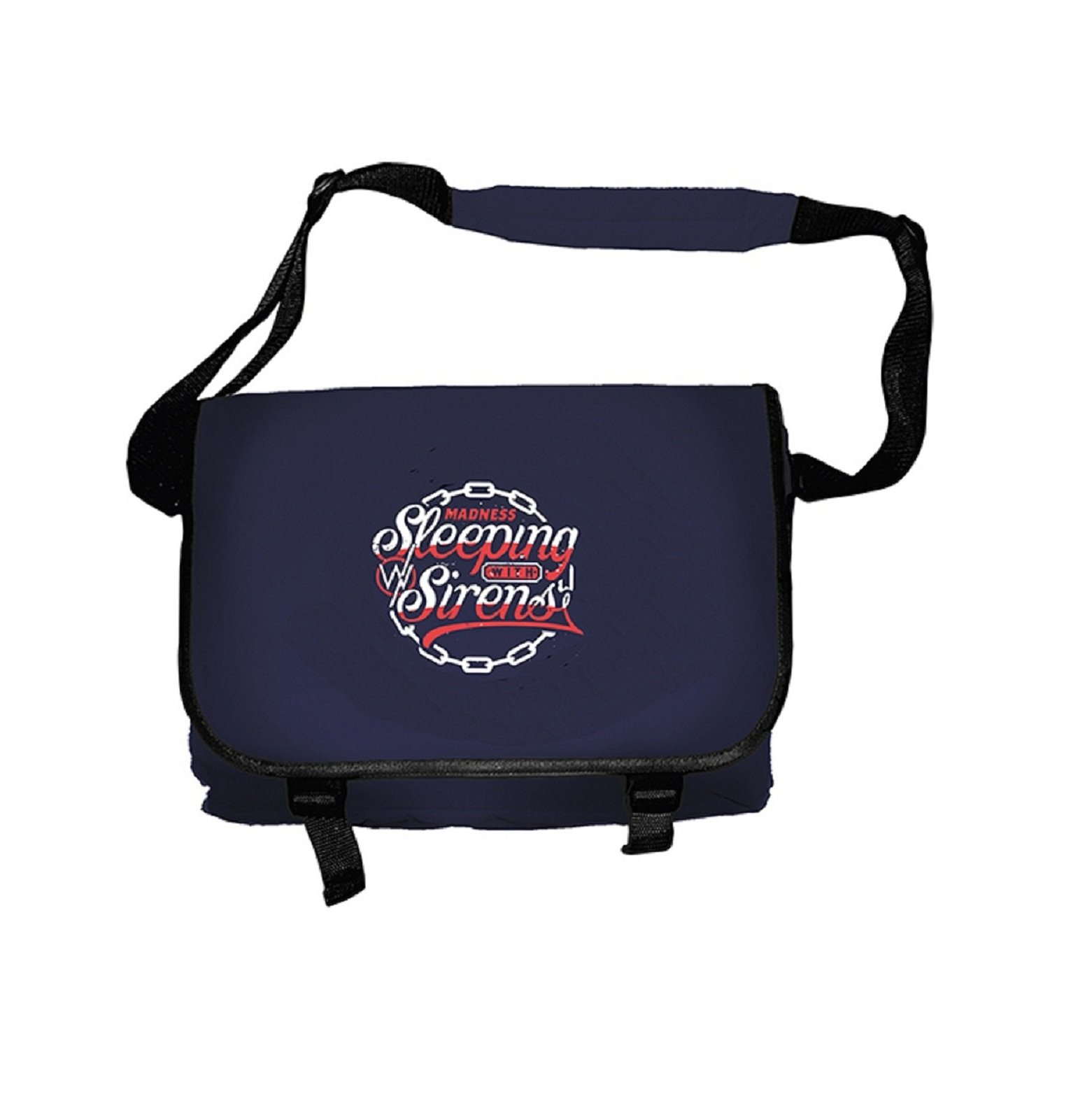 Sleeping With Sirens Madness Official Black Messenger Bag