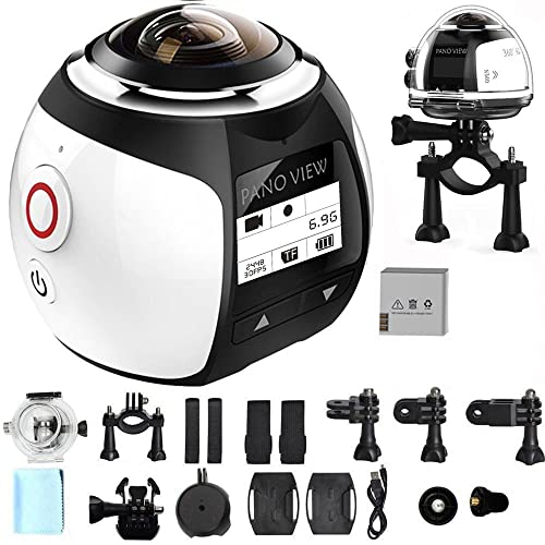 SOYA Wireless 360 Degree Panoramic Camera 3D VR Action Sports Camera Wifi 16MP 4K HD 30fps Waterproof 230° Lens Mini DV Player (Silver)