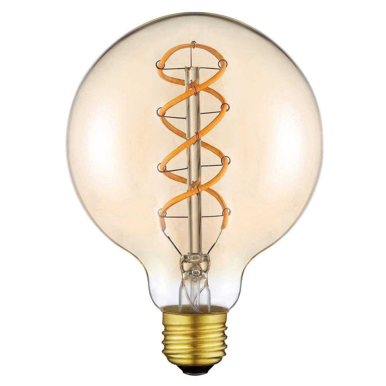 Bombilla LED Edició n Vintage Edison (φ 95mm) para Lá mpara Decorativa Regulable Flexible Bombilla LED con Filamentos, E27 Base Atornillable, Blanco Cá lido 2200K, 4W equivalente a 25W, 220V (1 Paquete) Blanco Cálido 2200K Ltd