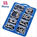 Metal Wire Puzzles,IQ Toys Brain Teaser Metal Wire Puzzles (8-Pack) Educational Toy Gift for Kids and Adults