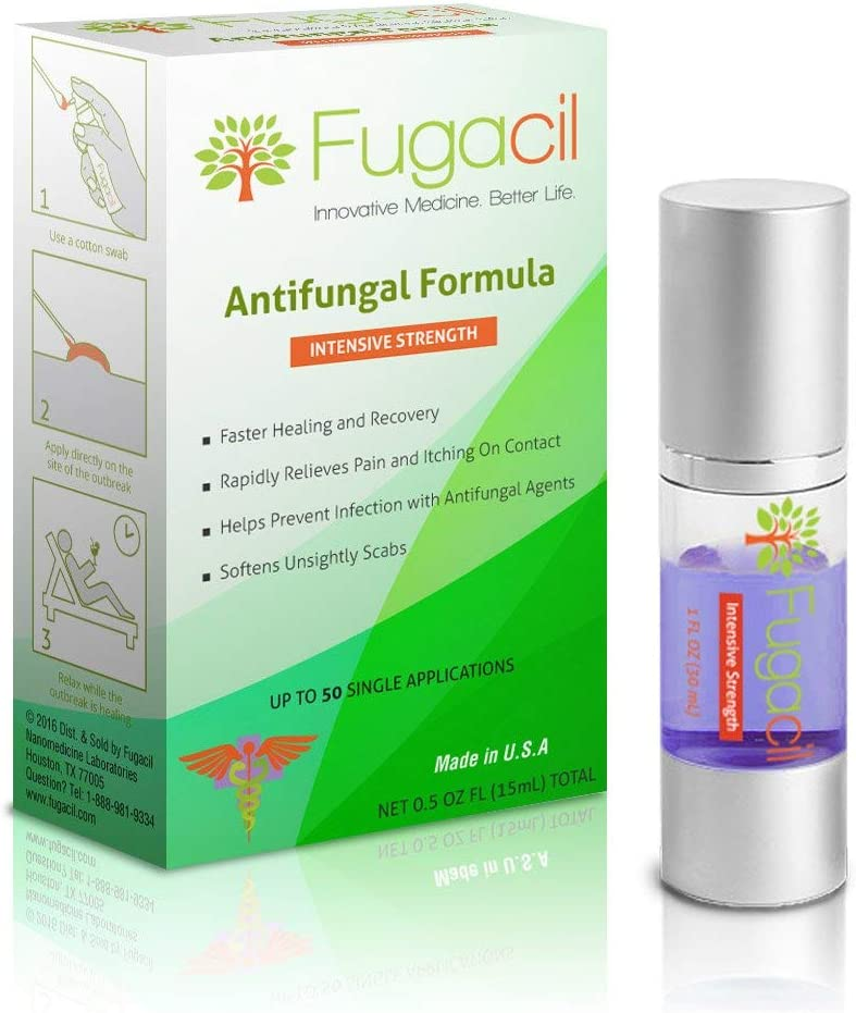 Fugacil Anti-Fungal Nanomedicine Cream with All-Natural Ingredients, Including Tea Tree. for Ringworm, Athlete's Foot, Jock Itch, Toenail Fungus, Fungal Infections, 0.5oz.: Health & Personal Care