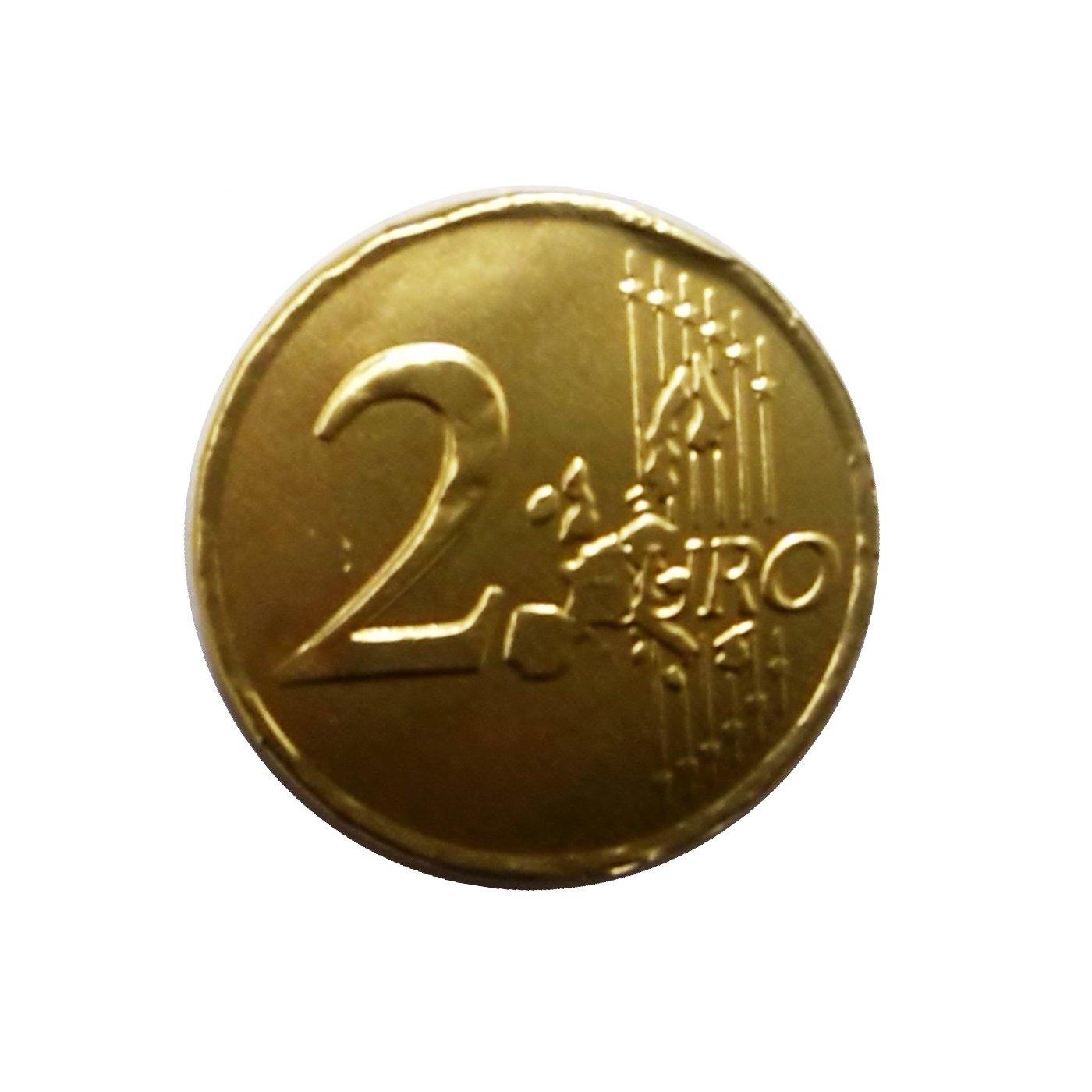 120 x Milk Chocolate Money - Gold Foiled 2 Euro Coins (Wholesale ...