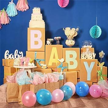 EdCott 6x6ft Dulce Baby Shower Telón de Fondo Fotografía ...