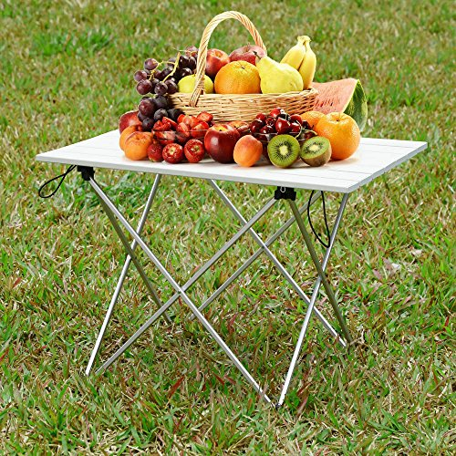 FuriGer Folding Camping Table,Lightweight Portable Picnic Table with Carry Bag Stable Durable Easy Set Up for Patio Garden BBQ Beach Fishing Outdoor & Indoor