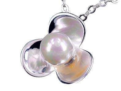 f0cb32f84da6 NicoWerk Silberkette mit Anhänger Blume Perle Blüte Schlicht Halskette  Damen 925 Silber Kette Schmuck Sterling SKE247