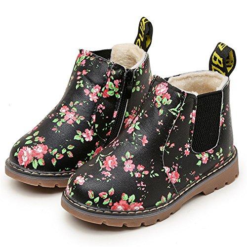 YING LAN Fashion Children Kids Snow Martin Boots Boys Girls Waterproof Toddler Shoes