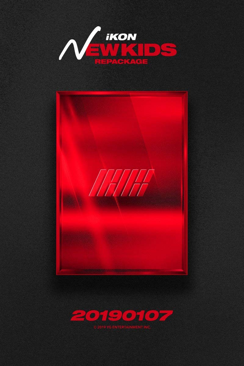 IKON [NEW KIDS REPACKAGE:THE NEW KIDS] Album RANDOM CD+POSTER+Photo  Book+Card+Tracking Number K-POP SEALED