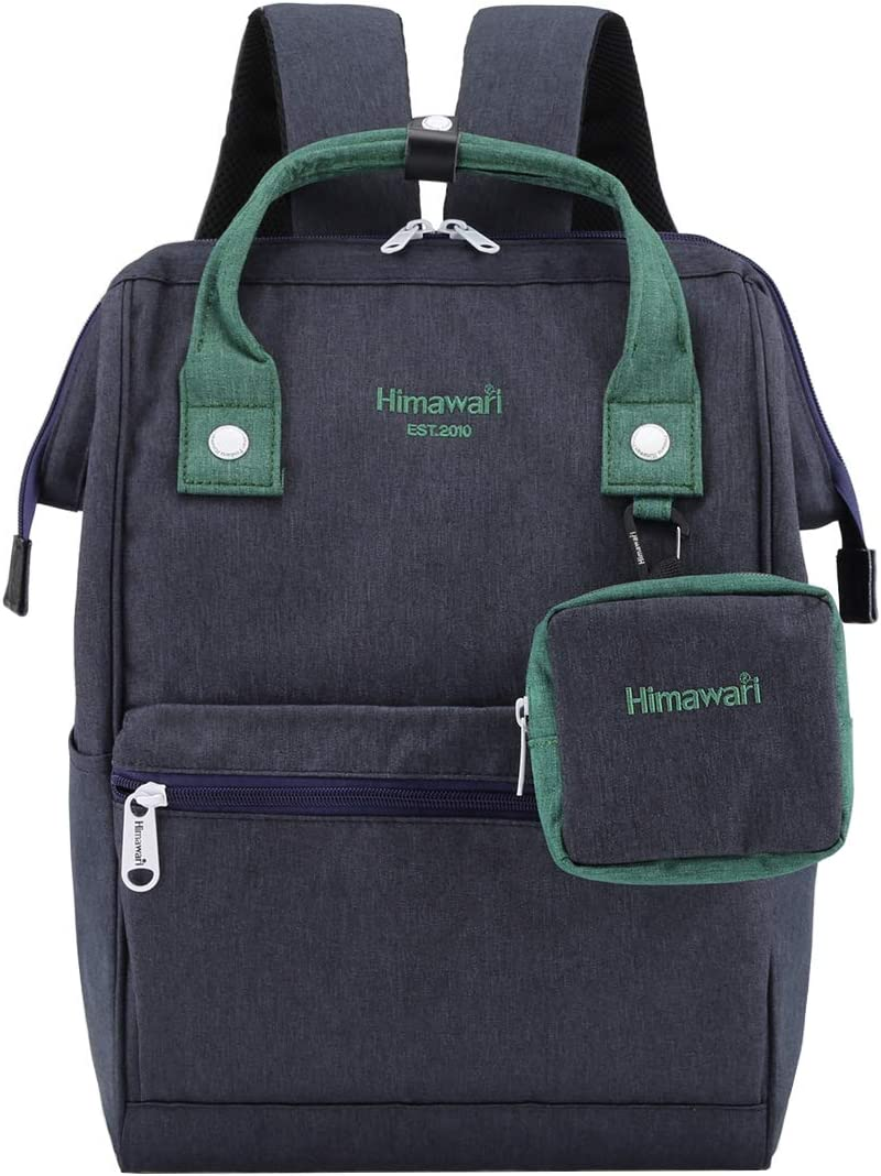 Himawari Travel Laptop Backpack for Men Women, Huge Capacity 15.6'' Computer Notebook Bag for School College Students(Navy Blue)