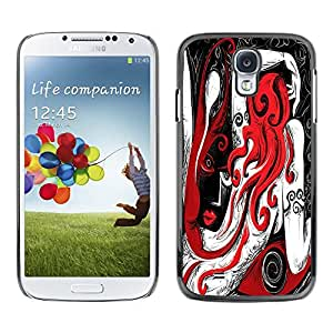 Dragon Case - FOR Samsung Galaxy S4 - Love is like the moon - Caja protectora de pl??stico duro de la cubierta Dise?¡Ào Slim Fit