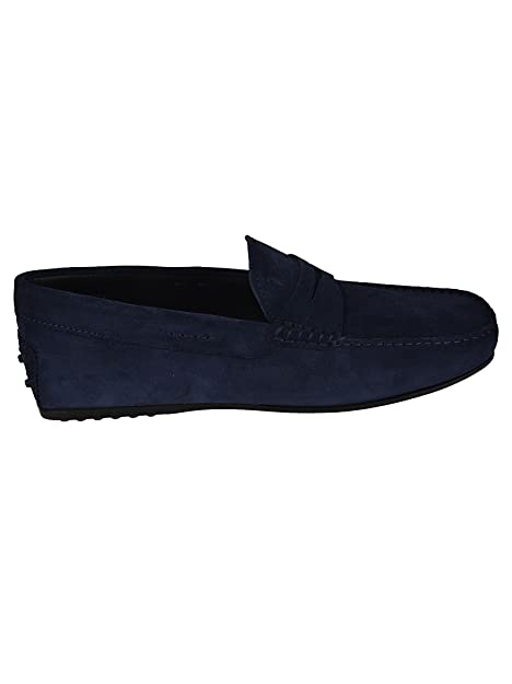 da551b0f74c Tod s City Gommino Suede Loafers Blu Uomo  Amazon.co.uk  Shoes   Bags