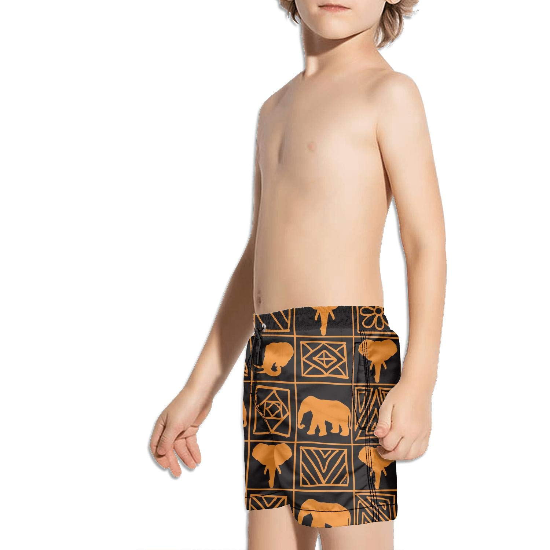Etstk Mandala Boho Bohemian Elephant Kids Durable Beach Shorts for Men