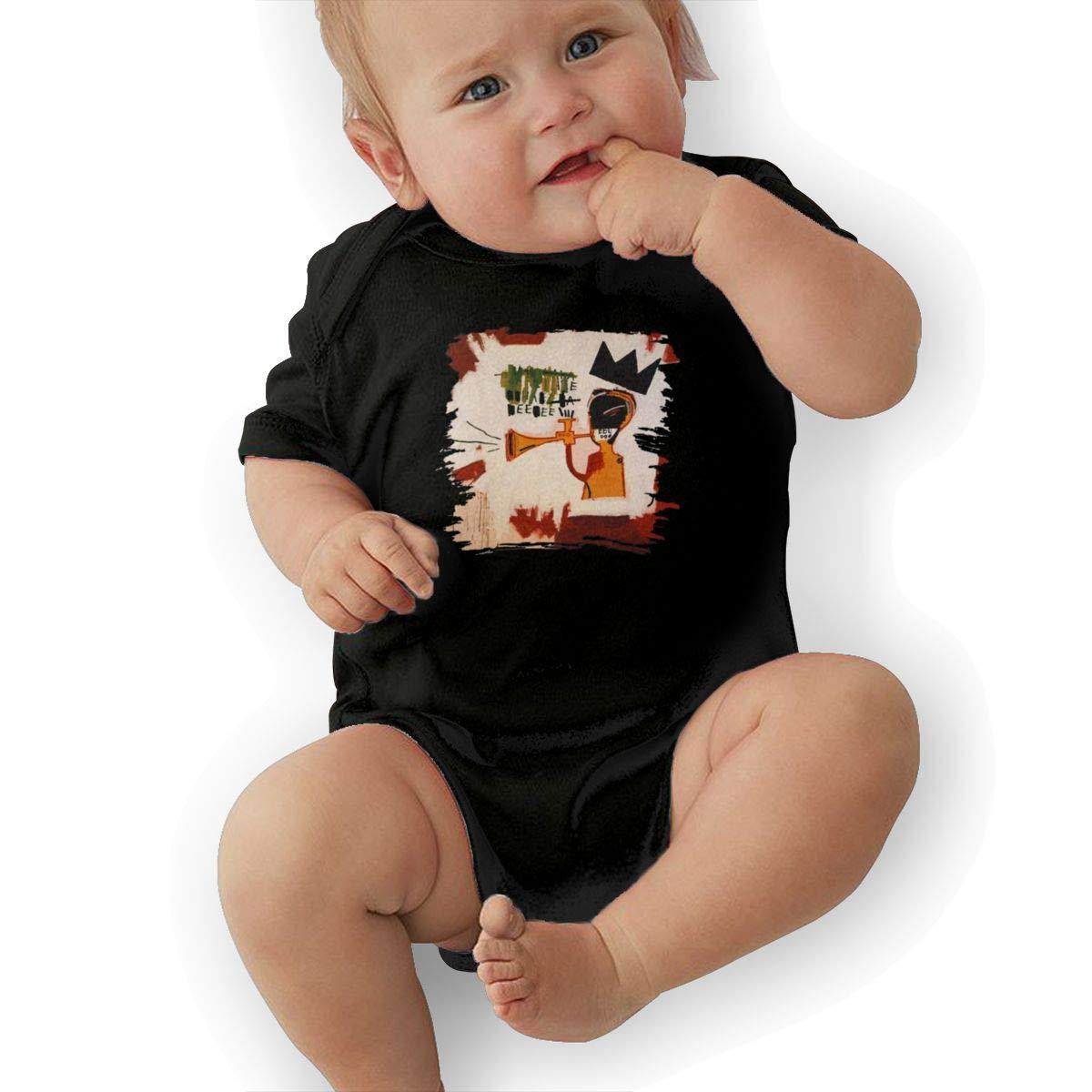 Jean-Michel-Basquiat Infant Toddler Baby Boy Girl Romper Summer Jumpsuit Short Sleeve Clothing Set