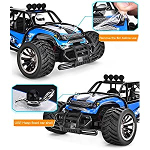 SIMREX A130 RC CARS High Speed 20MPH Scale RTR Remote control Brushed Monster Truck Off road Car Big Foot RC 2WD ELECTRIC POWER BUGGY W/2.4G Challenger Blue