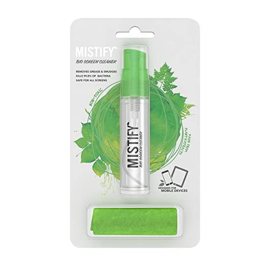 2 opinioni per Mistify Spray Naturale per lo Schermo 40 ml + Panno Microfibre Antibatterico