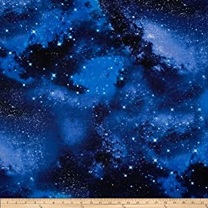 Timeless treasures space galaxy fabric by the yard for Galaxy quilt fabric