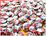 100 Poké Balls. 1'' Bulk Mini Buttons. Great for Pokémon Party Favors or Anime Loot Bags. Pokéball Pins.