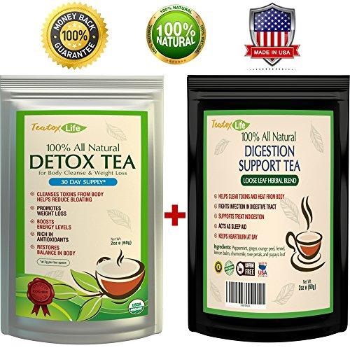 Teatox Existence 14/28 Day Skinny Mint Detox Tea and Digestion Support Loose Leaf Herbal Tea Bundle